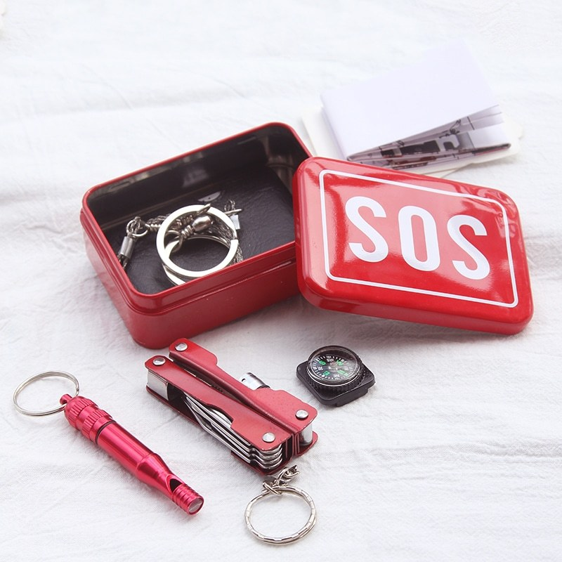Outdoor Camping SOS-Tool-Kit-Emergency-Survival